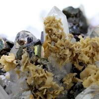 Siderite Chalcopyrite Galena Sphalerite & Quartz