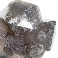 Smoky Quartz On Hematite