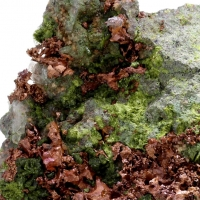 Native Copper Epidote & Adularia