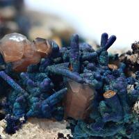 Blister Copper Psm Chalcocite & Bornite With Calcite