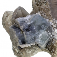 Quartz With Fluorite & Pyrite