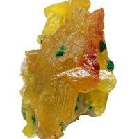 Cerussite With Chalcotrichite & Malachite