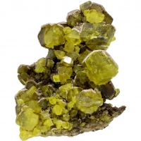 Native Sulphur On Aragonite