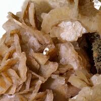 Calcite On Ferruginous Quartz