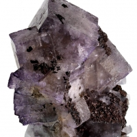 Fluorite With Limonite Psm Siderite