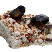Spessartine & Smoky Quartz