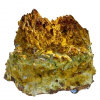 Cuprocopiapite On Limonite Psm Calcite
