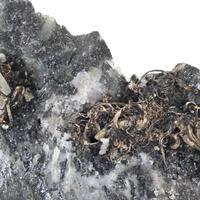 Native Silver & Calcite