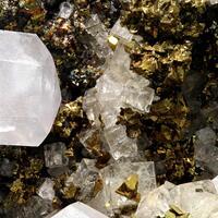 Calcite Chalcopyrite & Fluorite