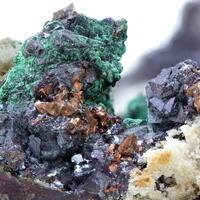 Native Copper Cuprite & Malachite