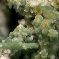 Pumpellyite-(Mg) & Albite On Quartz