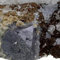 Galena Calcite Siderite & Quartz