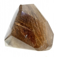 Quartz With Rutile Inclusions - Polished Freeform