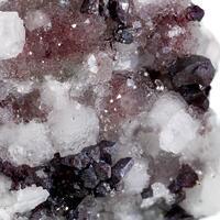 Cuprite & Calcite On Quartz