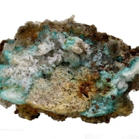 Aurichalcite & Hemimorphite With Smithsonite On Baryte