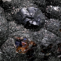 Chalcocite & Tennantite On Chalcopyrite