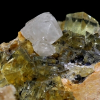 Anglesite & Fluorite