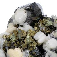 Sphalerite Chalcopyrite & Galena with Calcite & Quartz