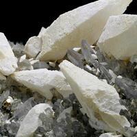 Calcite On Quartz With Pyrite