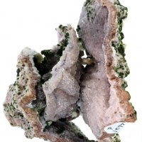 Duftite & Wulfenite With Dolomite Shell