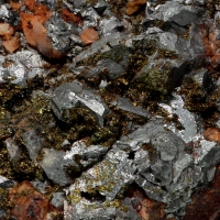 Arsenopyrite & Pyrite With Adularia & Chlorite