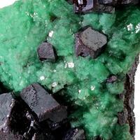Cuprite & Calcite With Malachite Inclusions