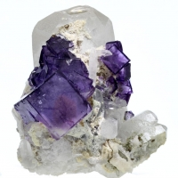Quartz & Fluorite With Scheelite