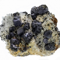 Sphalerite Chalcopyrite & Galena With Quartz