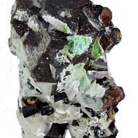 Andradite With Calcite & Schorl