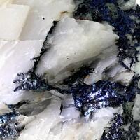 Covellite In Calcite