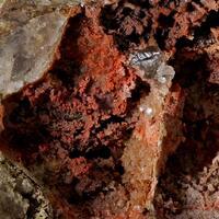 Cinnabar With Smithsonite & Hemimorphite