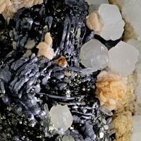 Galena Psm Pyrrhotite With Arsenopyrite Rhodochrosite & Calcite