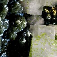 Mottramite & Calcite With Duftite