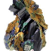 Azurite With Malachite Psm Azurite