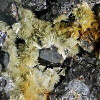 Greenockite & Hemimorphite With Sphalerite