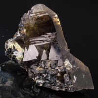 Smoky Quartz Cassiterite & Hyalite