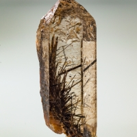 Smoky Quartz With Tourmaline