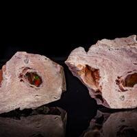 Fire Opal & Rhyolite