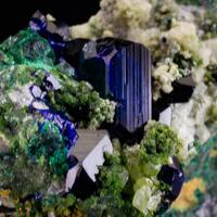 Azurite Malachite Duftite & Calcite