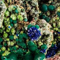Malachite Azurite & Zincolivenite
