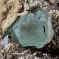 Fluorite Schorl Aquamarine & Hyalite