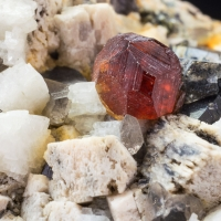 Spessartine Smoky Quartz Microcline & Orthoclase