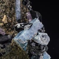 Aquamarine Schorl & Feldspar