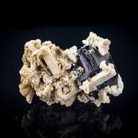Schorl Hyalite & Feldspar