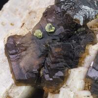 Andradite Melanite & Epidote On Orthoclase