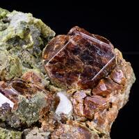 Hessonite Diopside & Calcite