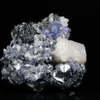 Fluorite On Galena With Sphalerite & Calcite
