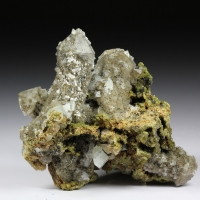 Datolite On Quartz With Grossular