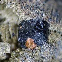 Ilvaite Hedenbergite & Pyrite