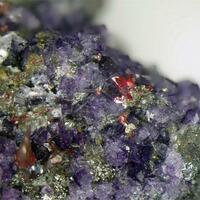 Proustite Argentopyrite & Fluorite